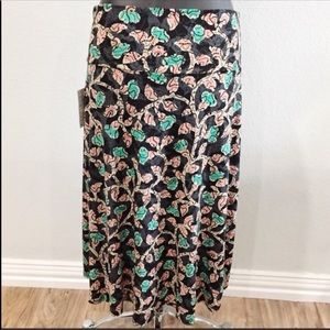 NWT LuLaRoe Azure Hi Low Skirt Rose Buds Large
